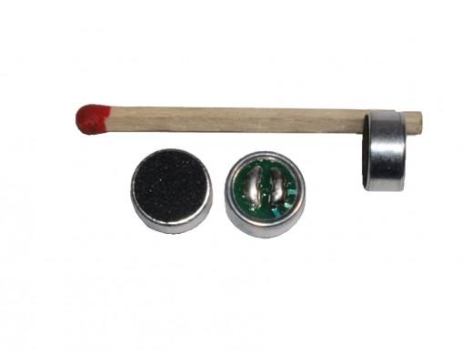 Mikrofon pojemnościowy KPCM-28B 9,7x5mm bez wyprowadzeń