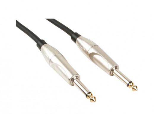 Przewód, kabel jack 6.3mm wtyk-wtyk 1m mono