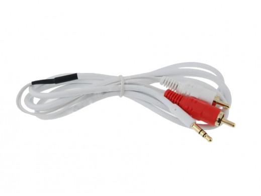 Przewód, kabel 3,5mm jack/2cinch 5m białe Vitalco
