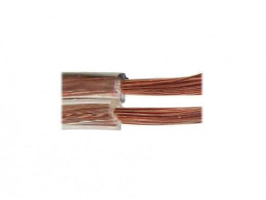 Kabel głośnikowy 2*0,75mm transparent