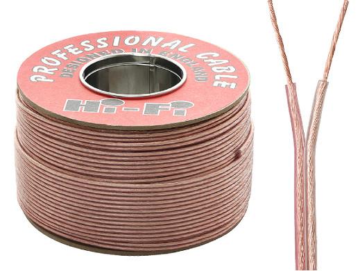 Kabel głośnikowy 2*1mm transparent