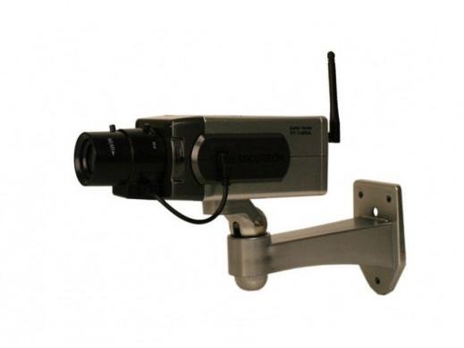 Atrapa kamery z sensorem...