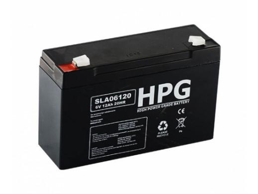 Akumulator żelowy 6V 12Ah HPG