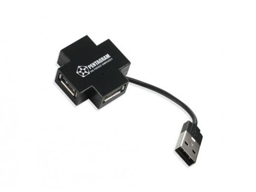 HUB 4 porty USB Pentagram P-1224-4 pasywny