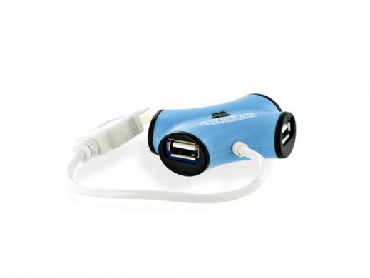 HUB 4porty USB pasywny 4World