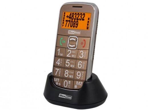 Telefon komórkowy ze stacją dokującą MM460 złoty Maxcom