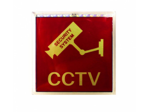 Tabliczka ostrzegawcza CCTV sygnalizator LCD