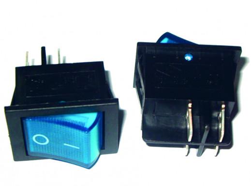 Przełącznik klawiszowy IRS-201-3C 230V niebieski