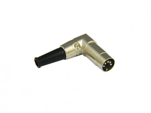 Wtyk din5 metal kątowy na kabel