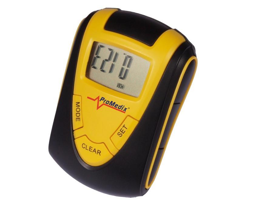 Krokomierz cyfrowy. Licznik kroków, dystansu, kalorii, stoper ProMedix PR-211