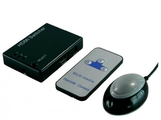 Switch HDMI 3 wejścia i 1 wyjście z pilotem HD0003 LogiLink