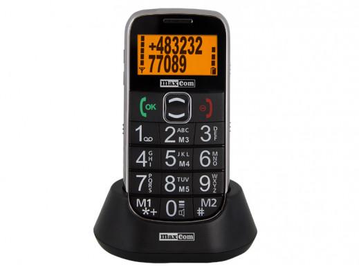 Telefon komórkowy ze stacją dokującą MM460 czarny Maxcom
