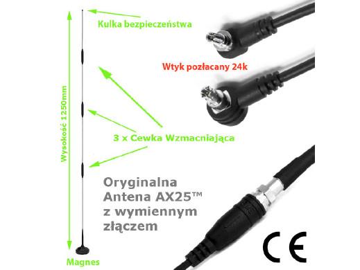 Antena magnetyczna GSM/3G/4G/LTE AX25 FME