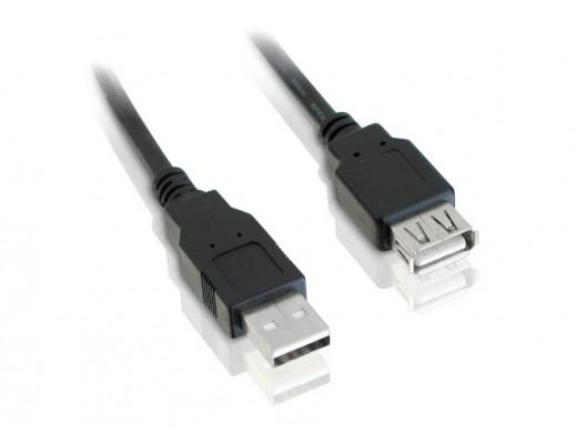 Przewód, kabel mini USB wtyk-gniazdo, przedłużacz 1,2m