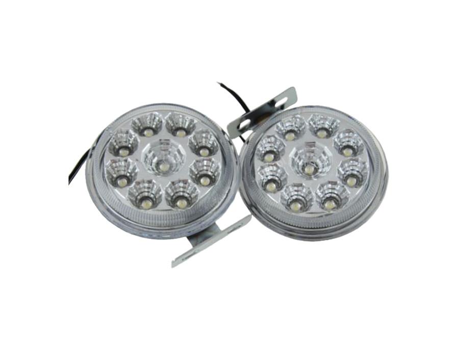 Światła do jazdy dziennej 9 LED okrągłe