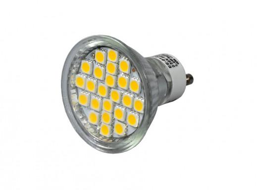 Żarówka 24 LED SMD 3W GU10 EcoEnergy ciepła biała