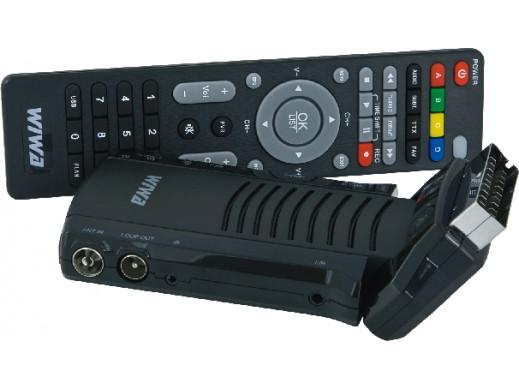 Tuner cyfrowy DVB-T HD-55 MPEG4, FullHD, MediaPlayer Wiwa