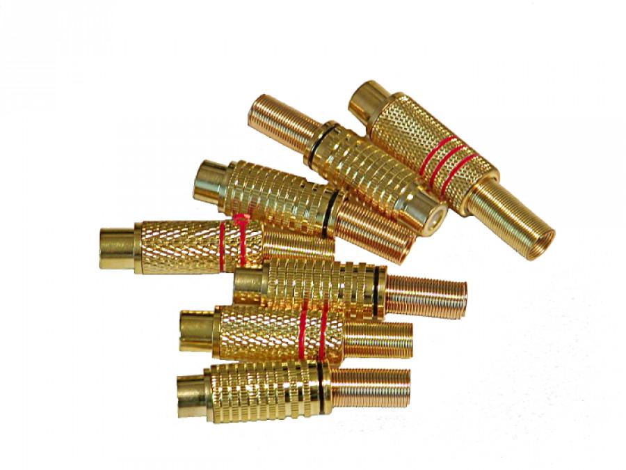 Gniazdo cinch na kabel gold