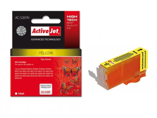 Tusz Canon CLI-526Y new AC-526YN Yellow 10ml  ACJ PIXMA: MG5120, MG5140, MG5150, MG5170, MG5220, MG5240, MG5250, MG5270, MG6120