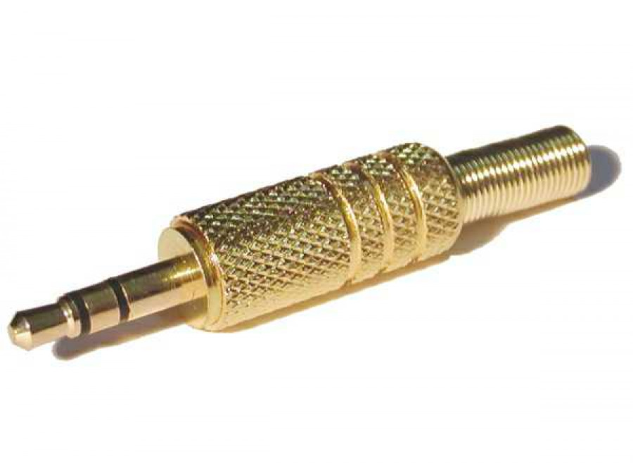 Wtyk jack 3,5mm stereo gold