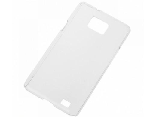 Pokrowiec na telefon Samsung Galaxy S2 plastikowy przezroczysty M-Life