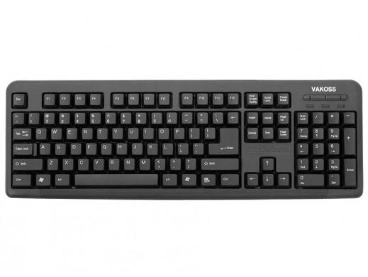 Klawiatura  komputerowa SLIM USB TK-103PK czarna