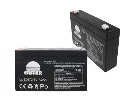 Akumulator żelowy 6V 7,2Ah Eastar