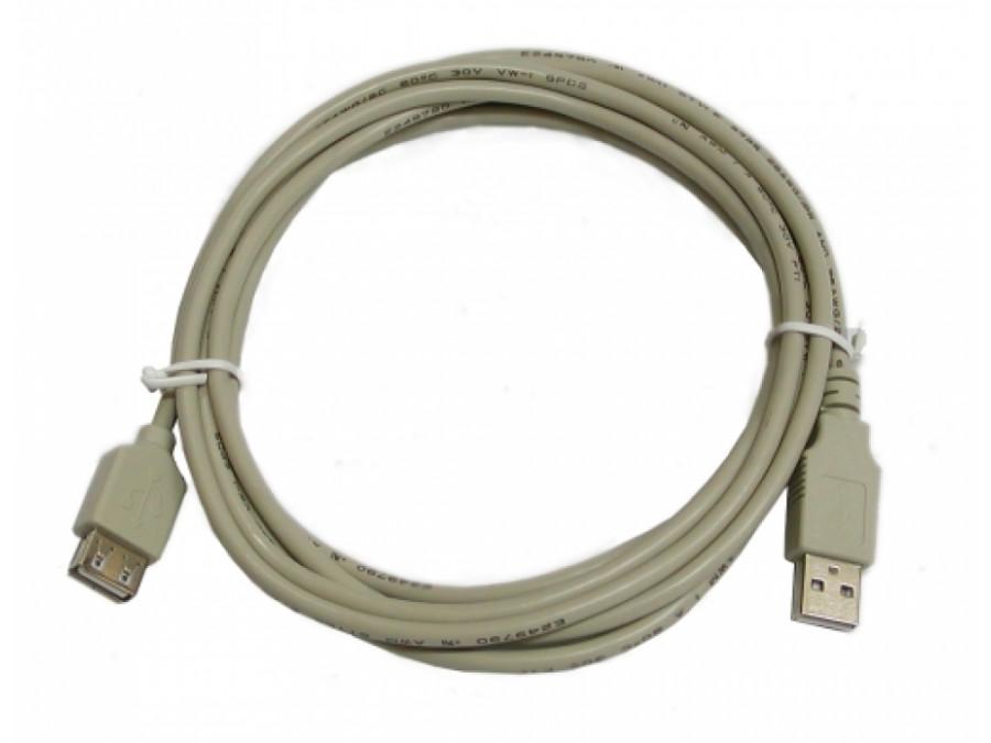 Przewód, kabel USB A-A Wtyk-gniazd 3m przedłużacz