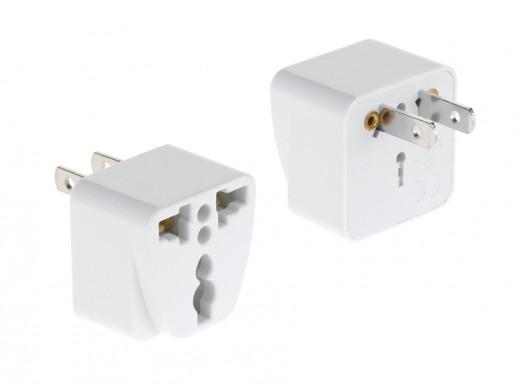 Złącze AC wtyk USA-gn.białe uniwer.