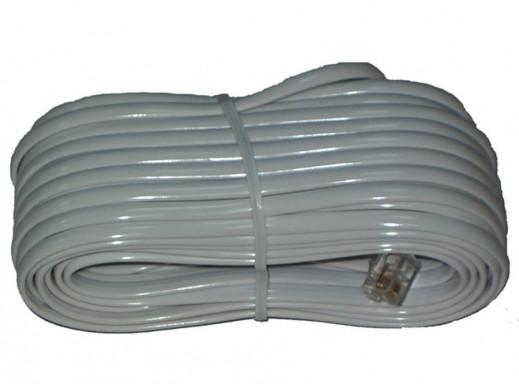 Przewód telefoniczny wtyk-wtyk 3m biały