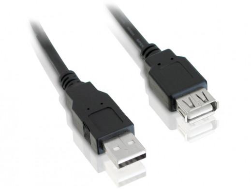 Przewód USB 2.0 A-B M/M 1.8m czarny drukarka