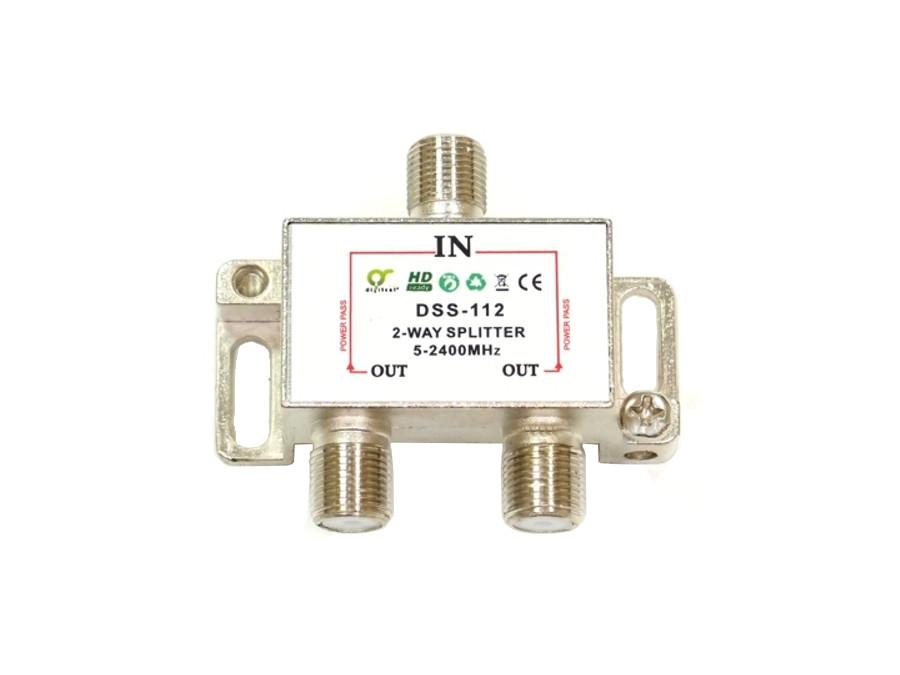 Rozgałęźnik F-sat 1/2 5-2400 DSS112 Dc pass Digitsat