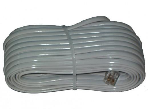 Przewód, kabel telefoniczny abonencki wtyk-wtyk 10m biały