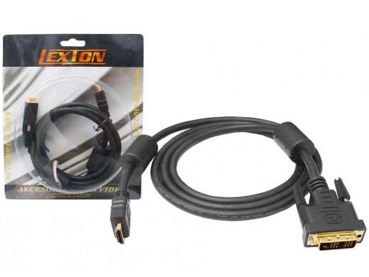 Przewód DVI-HDMI DVI04 1.5m