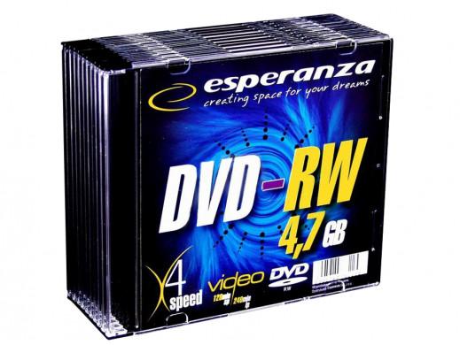 Płyta DVD+RW Esperanza 4,7gb w pudełku