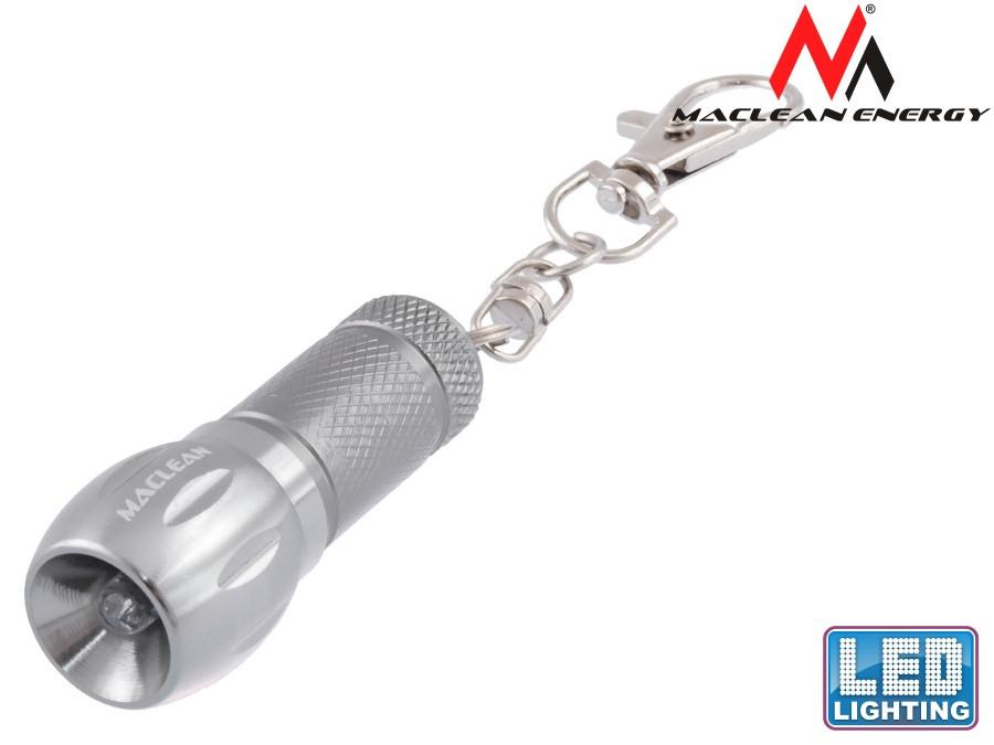 Lampa 1LED brelok aluminiowy MCE14 bateria 3xAG13