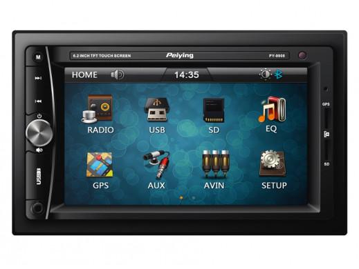 Radioodtwarzacz samochodowy PY9908 2Din MP4/MP3/JPG/USB/SD/MMC/DVB-T/GPS/Bluetooth Peiying Alien
