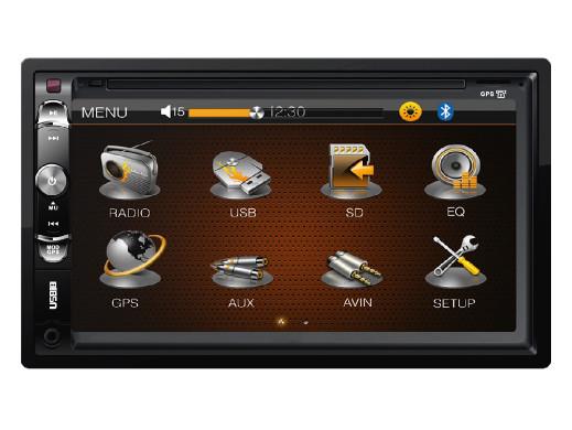 Radioodtwarzacz samochodowy KM2003 MP4/DIVX/VCD/MP3/JPEG/USB/SD/MMC Kruger&Matz