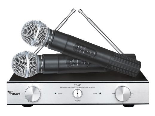Mikrofon bezprzewodowy FV-508 2 kanały VHF Azusa