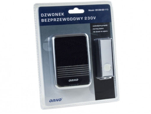 Dzwonek bezprzewodowy OR-DB-QS-113 sieciowy 230V Orno