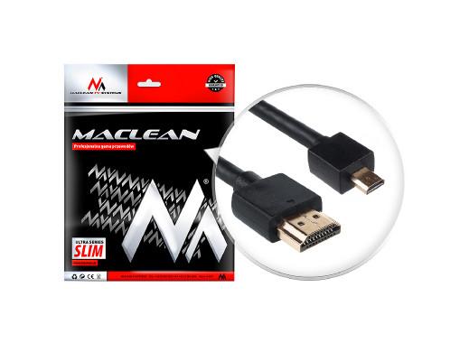 Przewód HDMI-microHDMI SLIM...