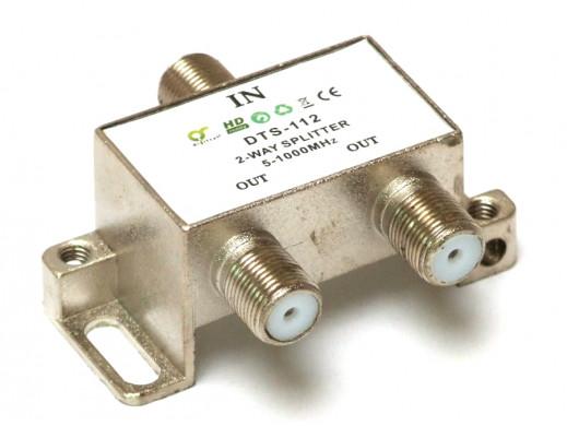 Rozgałęźnik F-sat 1/2 5-1000 DTS112 Dc pass Digitsat