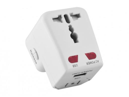 Adapter podróżny UK z ładowarką USB Forever