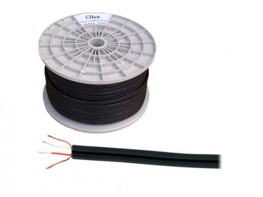 Kabel 2*2 cinch 4mm czarny