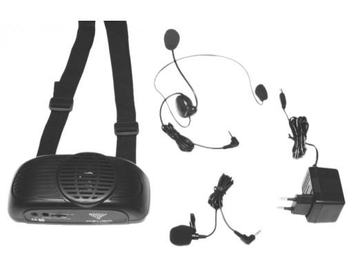 Mikrofon+wzmacniacz przenośny zestaw nagłośnieniowy