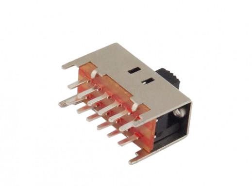Przełącznik suwakowy 2 poz 12pin 22mm do druku