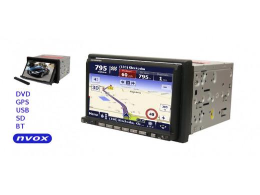Radioodtwarzacz samochodowy 2DIN DVD/DIVX/MP3/USB/SD JD7106 HD NVOX