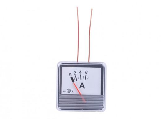 Amperomierz analogowy 0-6A WP06 kwadrat DC