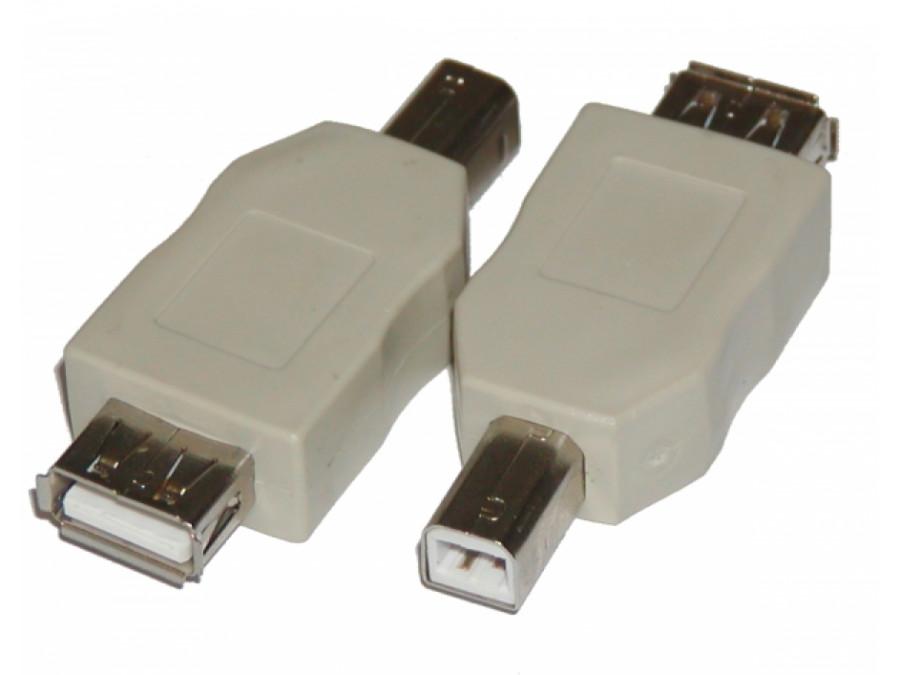 Adaptor USB gniazdo A wtyk B