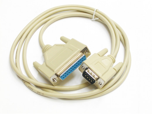 Przewód komputerowy wtyk DB9 gniazdo DB25 3m